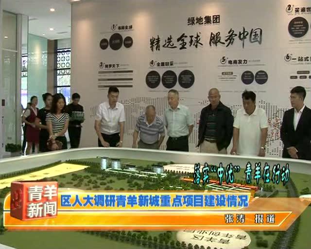 区人大调研青羊新城重点项目建设情况